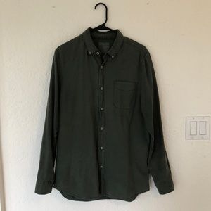 Cotton On Olive Green Button Up Shirt